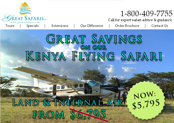 Great Safaris - Call 1-800-409-7755 or go to www.GreatSafaris.com for expert safari advice and guidance.
